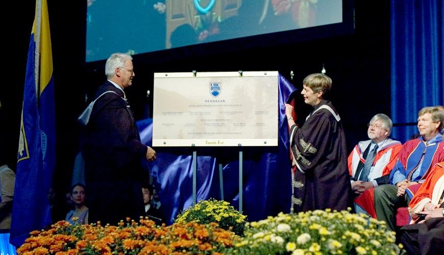 UBC Okanagan's opening ceremony as campus opens.