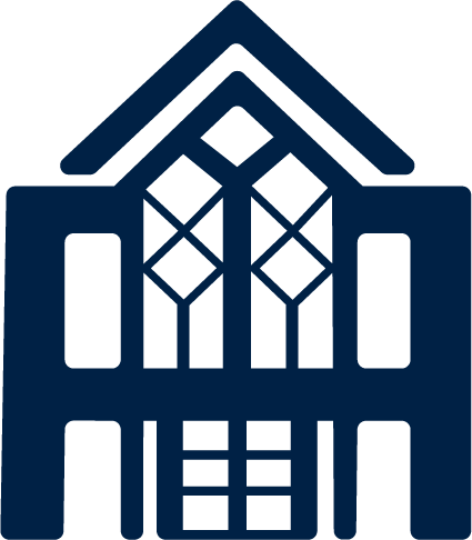 Administration building icon.