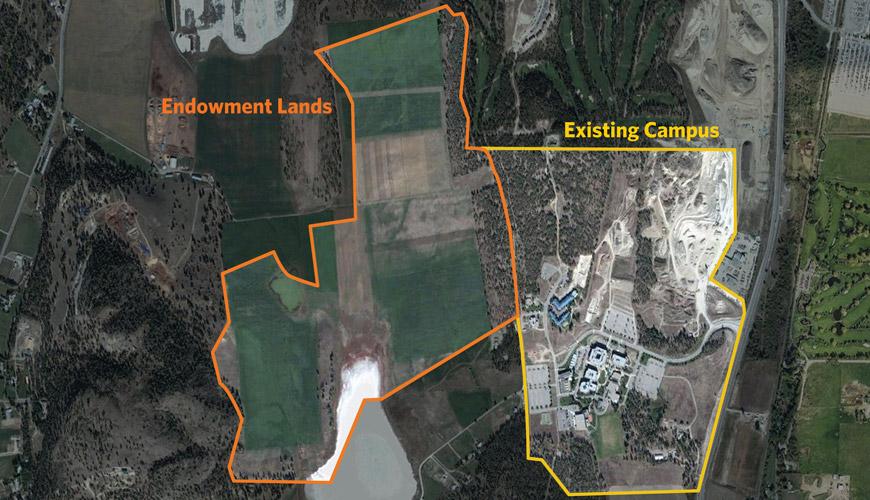 endowment lands west of UBC Okanagan campus