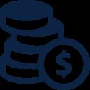small coin icon.