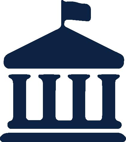 Administrative building icon.