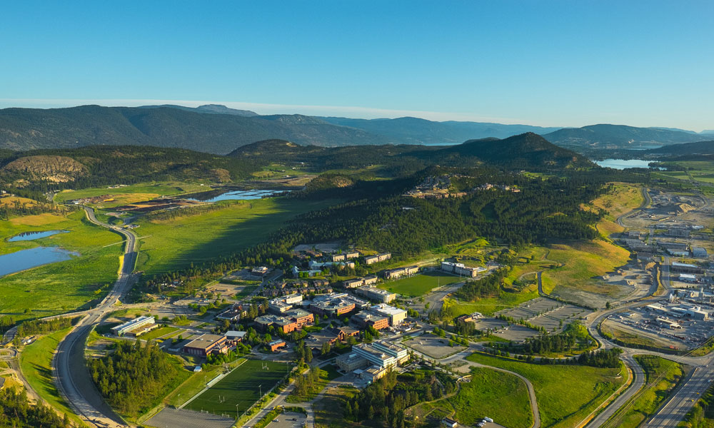 Aerial view of the UBC Okanagan campus