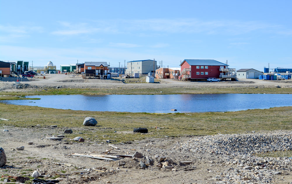 Scenic view of Cambridge Bay, Nunavut.