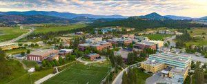 Aerial view of the UBC Okanagan campus