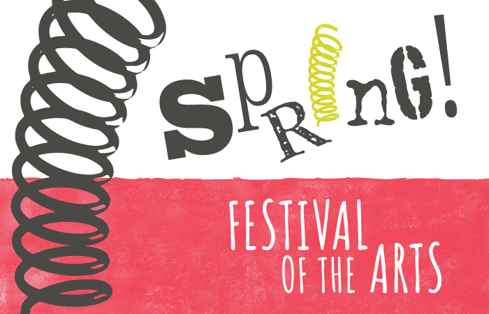 Spring graphic for festival of arts