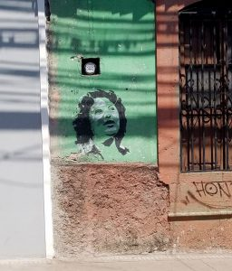 Grafitti of Berta Cáceres