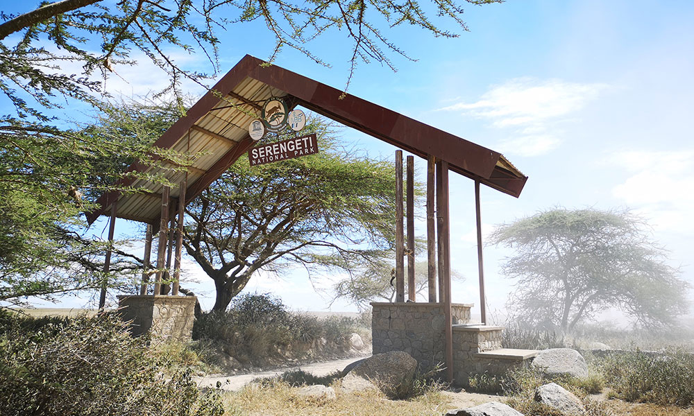 Entrance structure to the Serengeti National Park