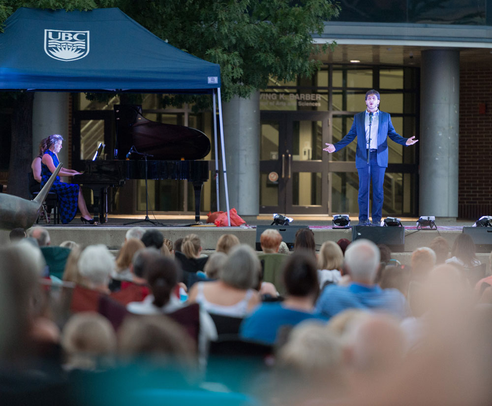 Opera Under the Stars at UBC's Okanagan campus.