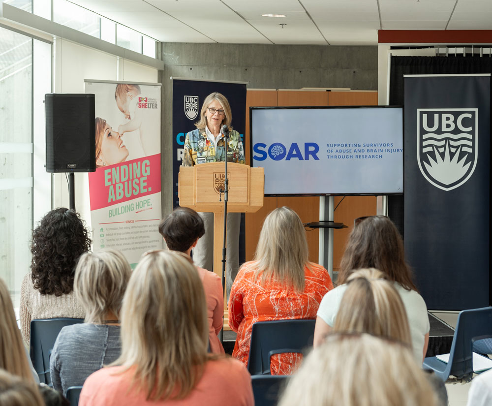 DVC Deborah Buszard at the announcement of the SOAR research project