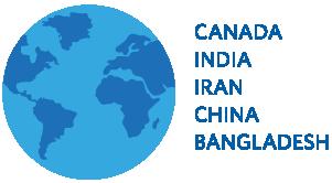 Top 5 Countries: Canada, India, Iran, China Bangladesh