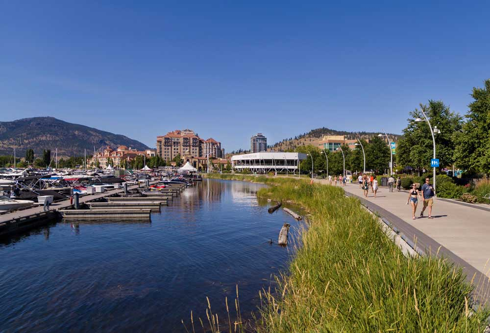 Downtown Kelowna on a summer day.