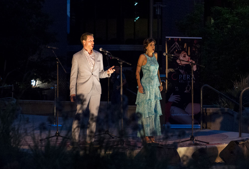 Opera singers performing at UBCO's Opera Under the Stars.