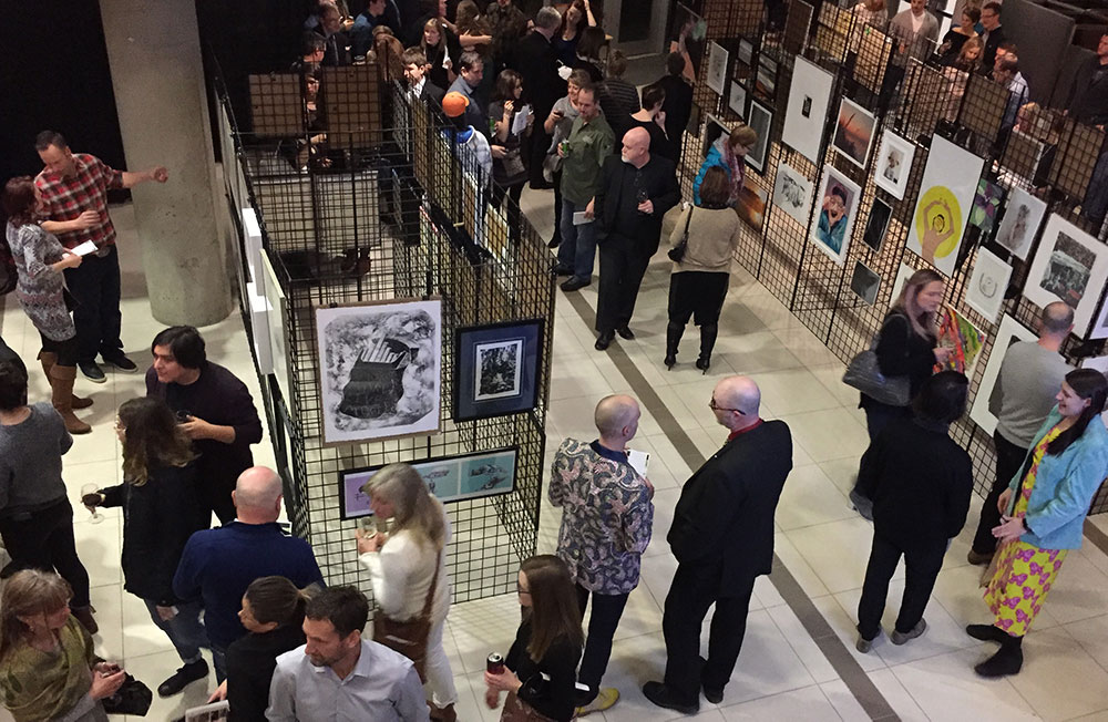 Image of gallery full of people