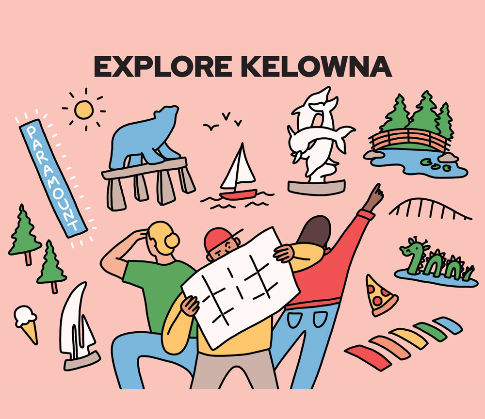 Explore Kelowna design created by Ashleigh Green