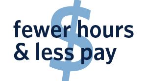 Fewer hours and less pay