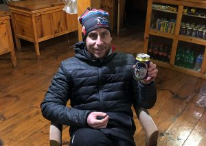 Felix Gervais with Everest beer