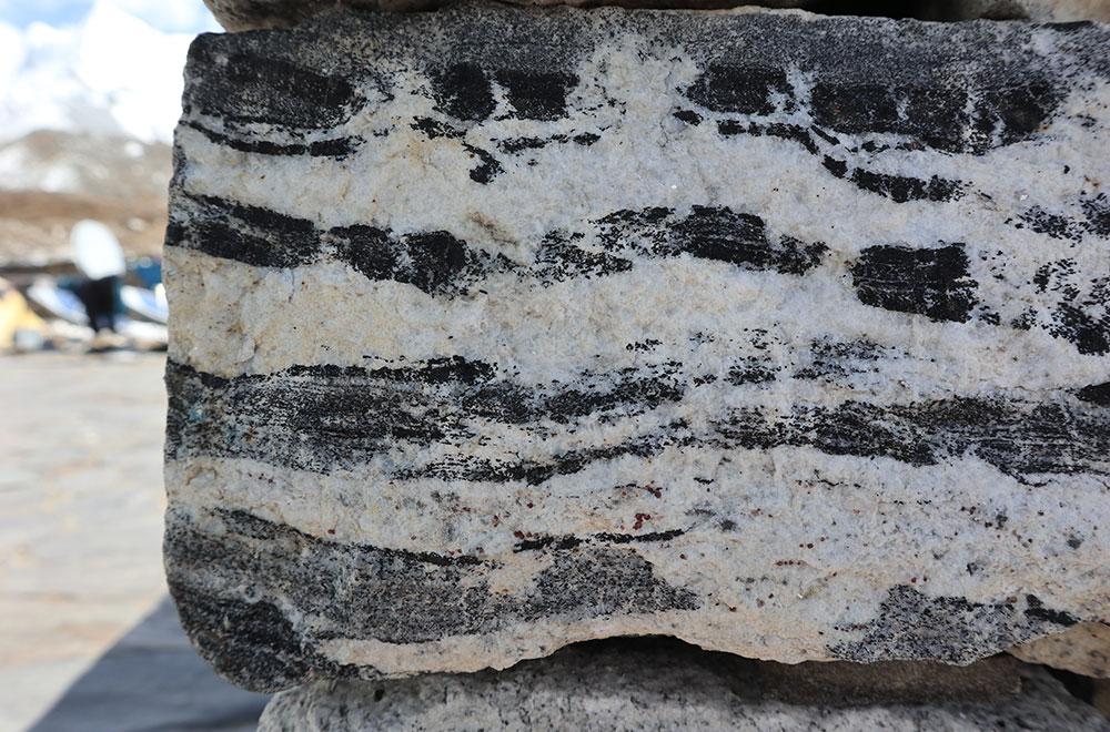 Leucogranite stone