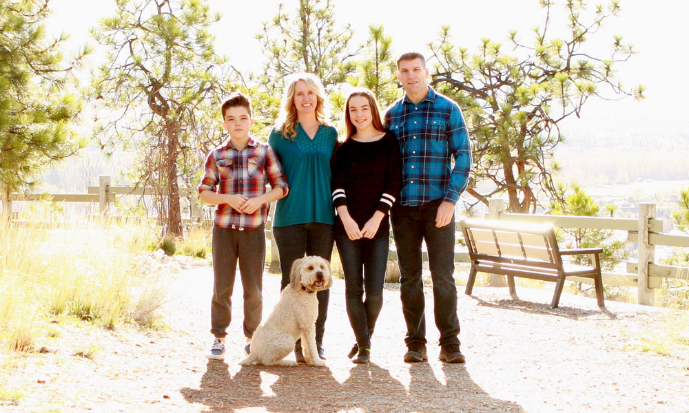 Jennifer Monaghan and her family