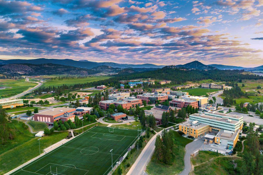 aerial image of UBC Okanagan