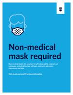 mask sign blue