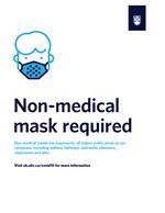 mask sign white
